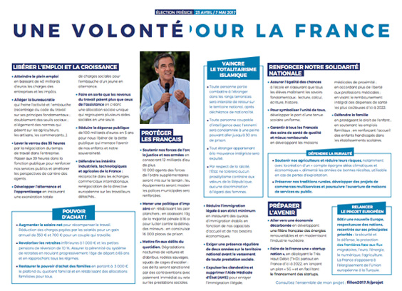 Profession de foi Fillon 2017 - wink strategies